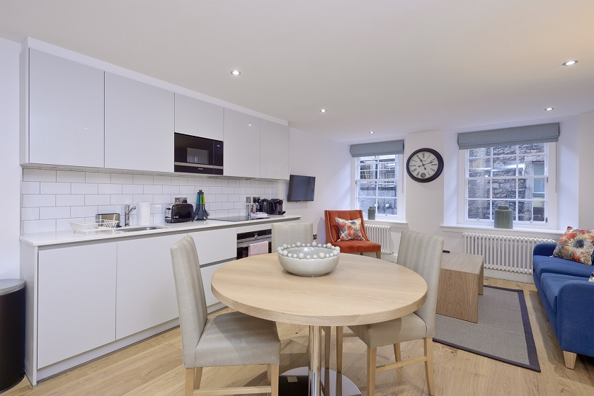 Dining table at New Town Serviced Apartments - Citybase Apartments