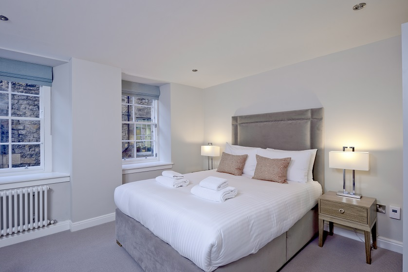 Large bedroom at New Town Serviced Apartments - Citybase Apartments
