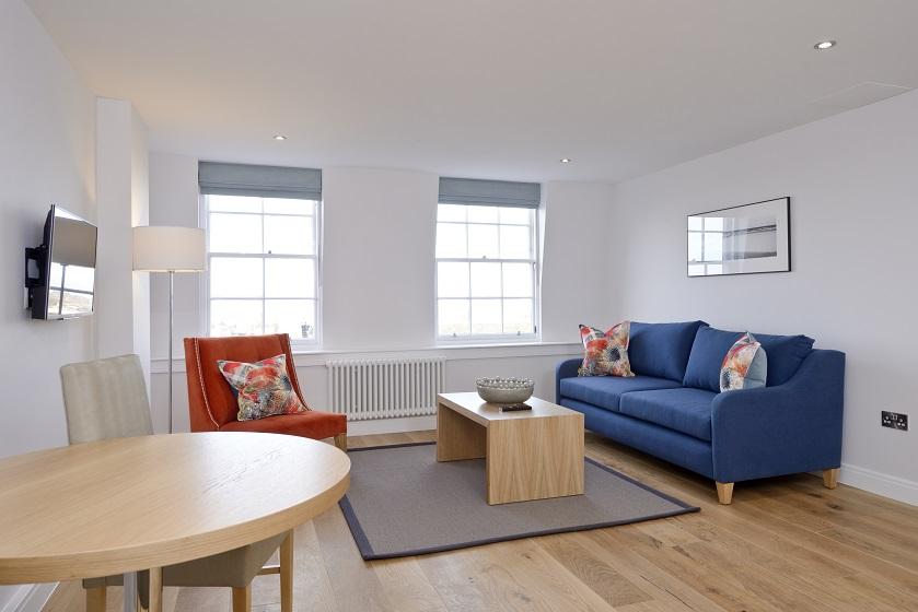 Sofa at New Town Serviced Apartments - Citybase Apartments