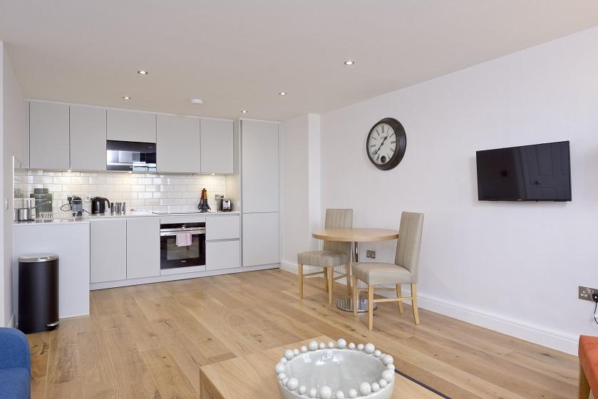 Sleek kitchen at New Town Serviced Apartments - Citybase Apartments