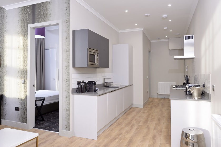 Modern kitchen at Charlotte Square Apartments - Citybase Apartments