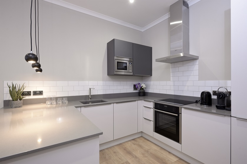 Kitchen at Charlotte Square Apartments - Citybase Apartments