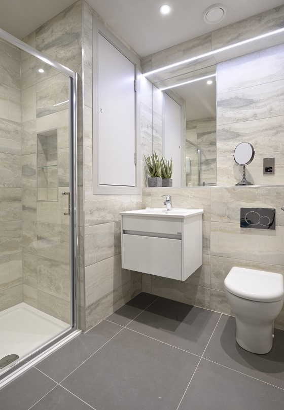 Bathroom at Charlotte Square Apartments - Citybase Apartments