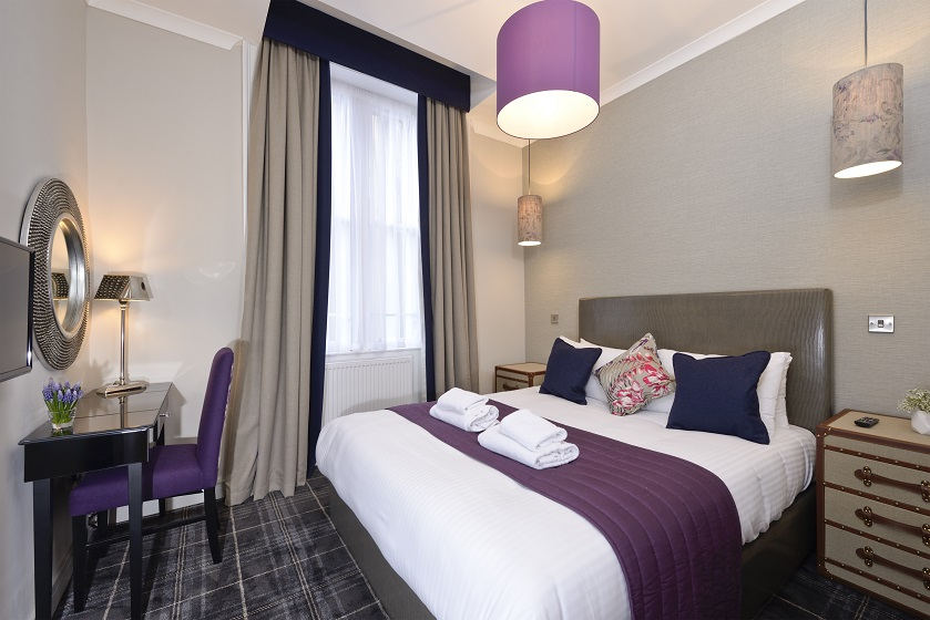 Cosy bedroom at Charlotte Square Apartments - Citybase Apartments