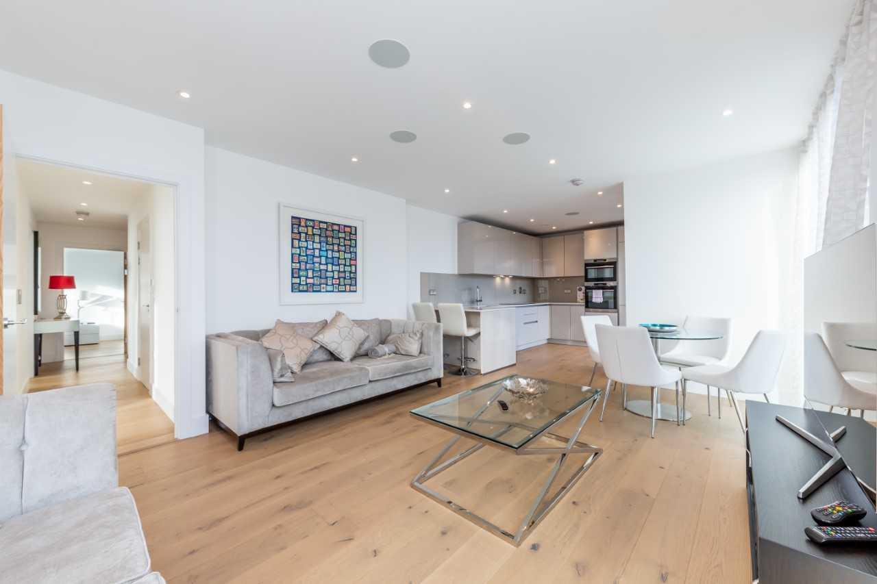 Living room at Camden St Pancras Way Apartment - Citybase Apartments