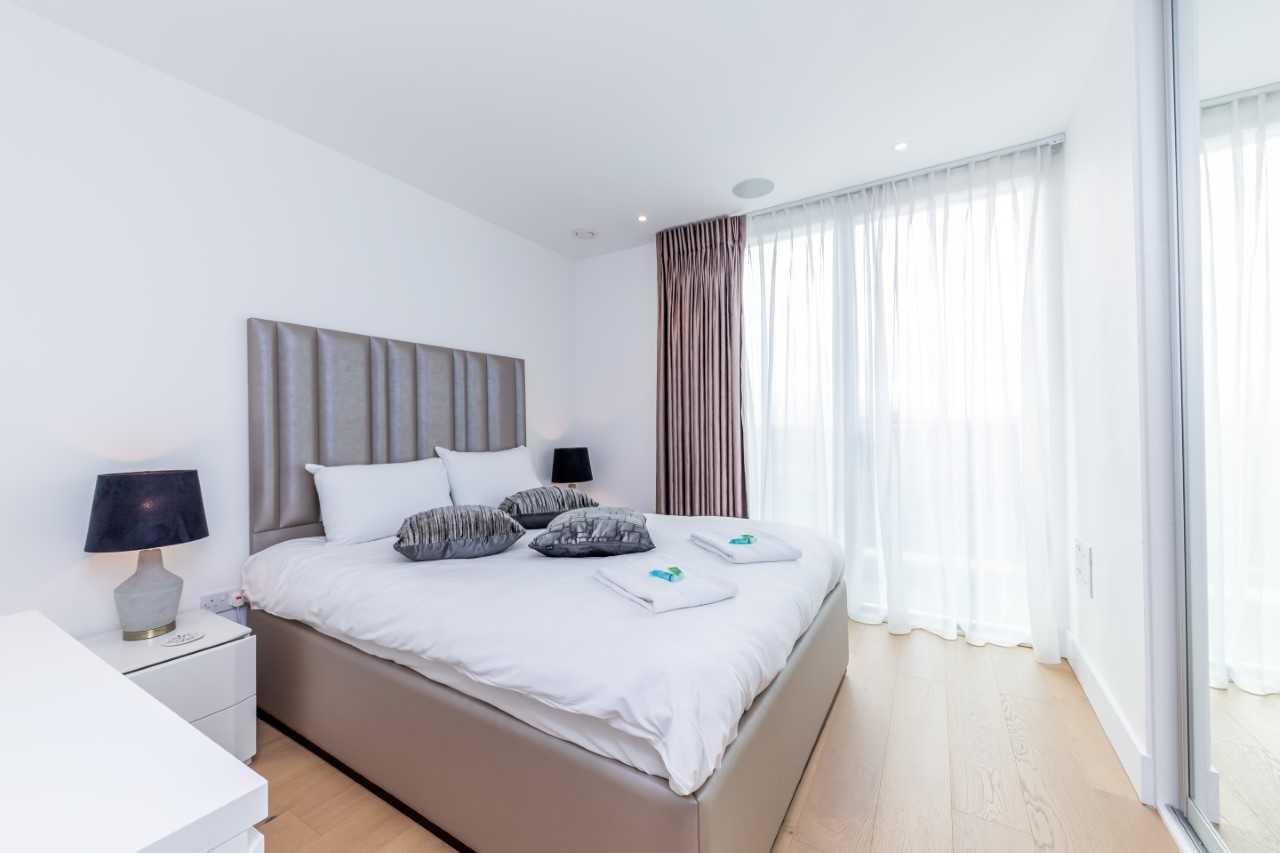 Bedroom at Camden St Pancras Way Apartment - Citybase Apartments
