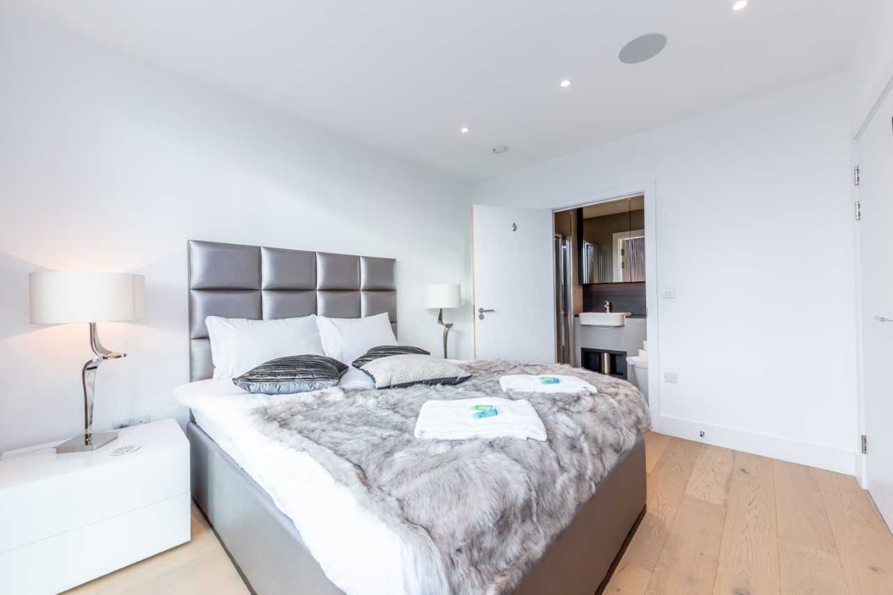Stylish bedroom at Camden St Pancras Way Apartment - Citybase Apartments