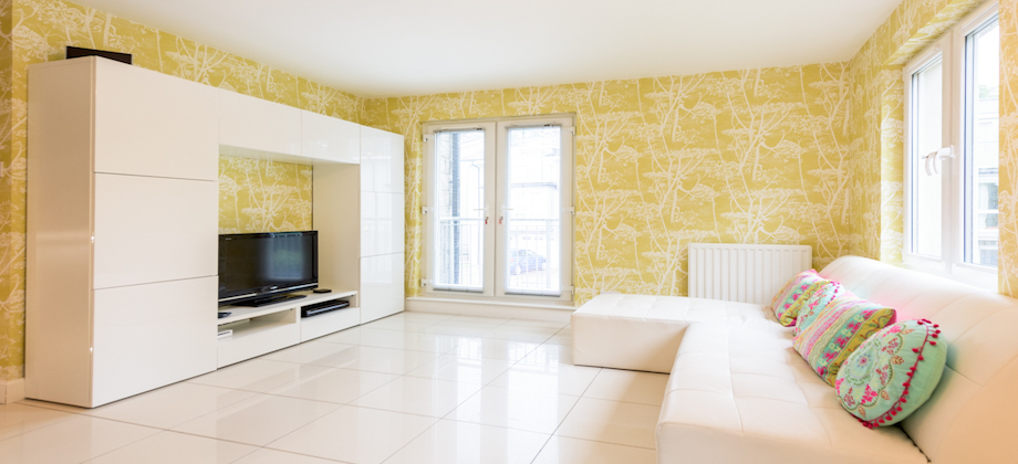 Spacious living area at Woodlands Terrace - Citybase Apartments