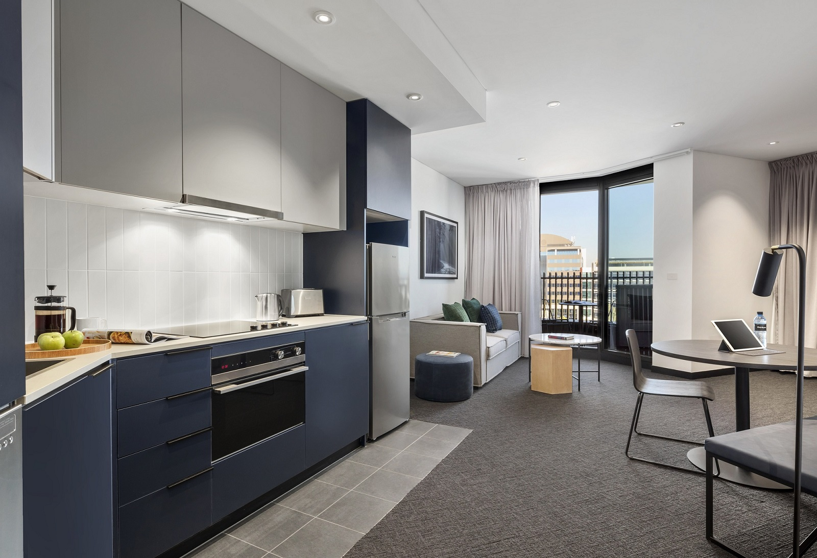 Living room at Quest Penrith Apartments - Citybase Apartments