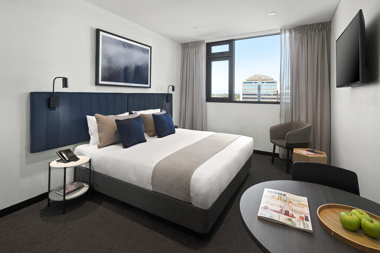 Bedroom at Quest Penrith Apartments - Citybase Apartments