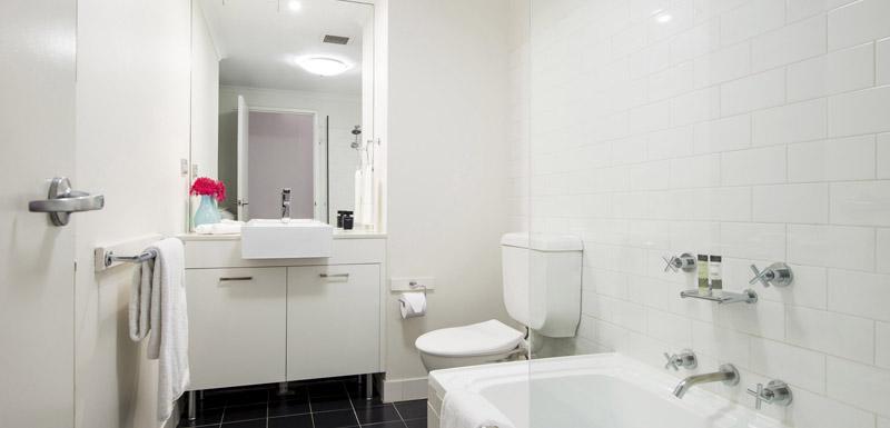 Bathroom at Oaks Goldsbrough Apartments - Citybase Apartments