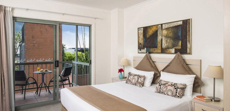 Balcony at Oaks Sydney Goldsbrough Suites - Citybase Apartments