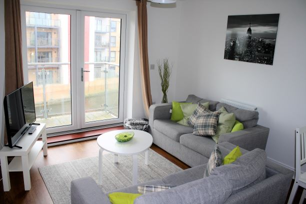 Living Room at Cressey Quay Apartment - Citybase Apartments