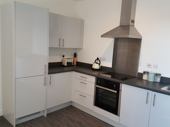 Kitchen at Guild House Serviced Apartment - Citybase Apartments