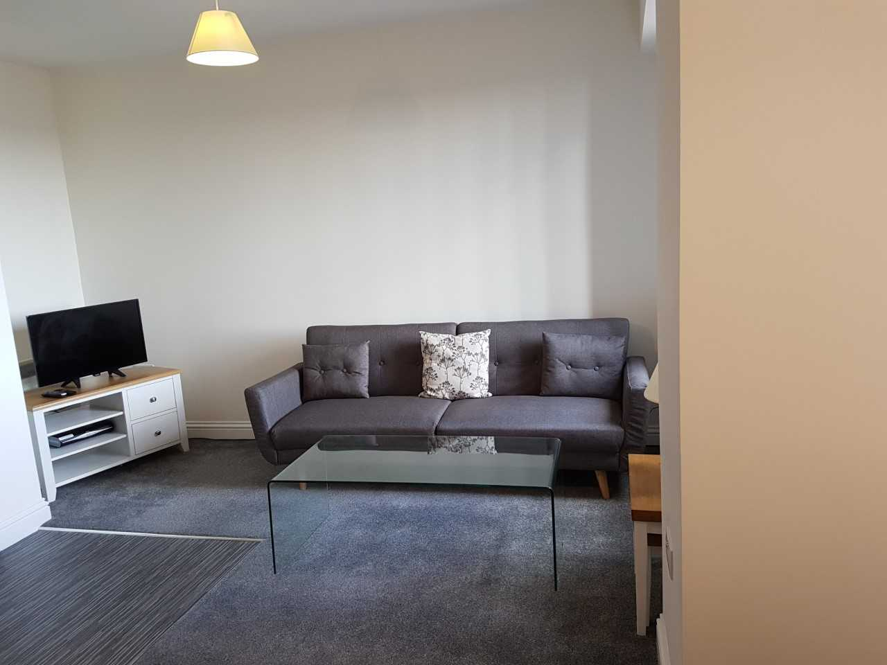 Living area at Guild House Serviced Apartment - Citybase Apartments