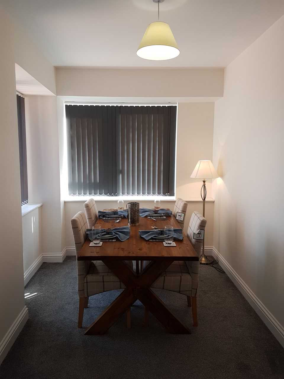 Dining area at Guild House Serviced Apartment - Citybase Apartments