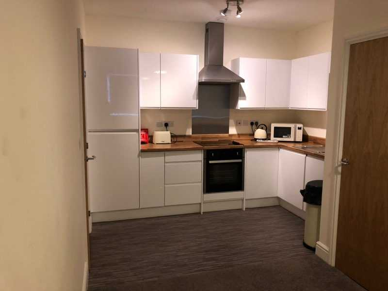 Modern kitchen at Electra House Apartments - Citybase Apartments