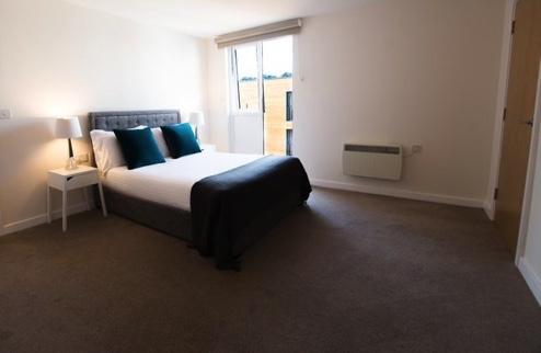 Bed at Charles Hope Southampton City Apartments - Citybase Apartments