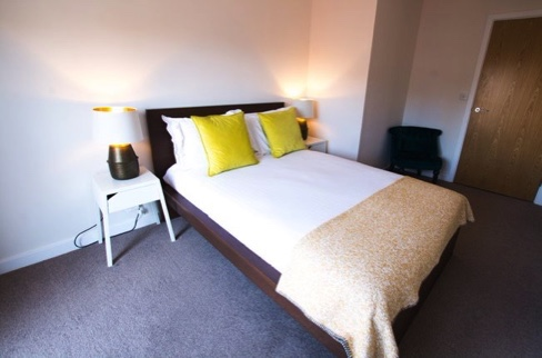 Double bed at Charles Hope Southampton City Apartments - Citybase Apartments