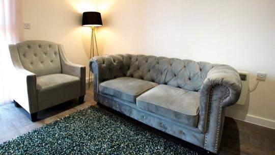 Sofa at Charles Hope Southampton City Apartments - Citybase Apartments
