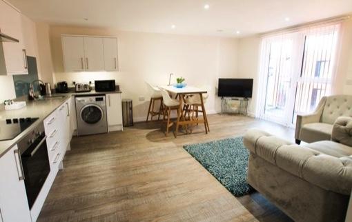 Open plan living  at Charles Hope Southampton City Apartments - Citybase Apartments