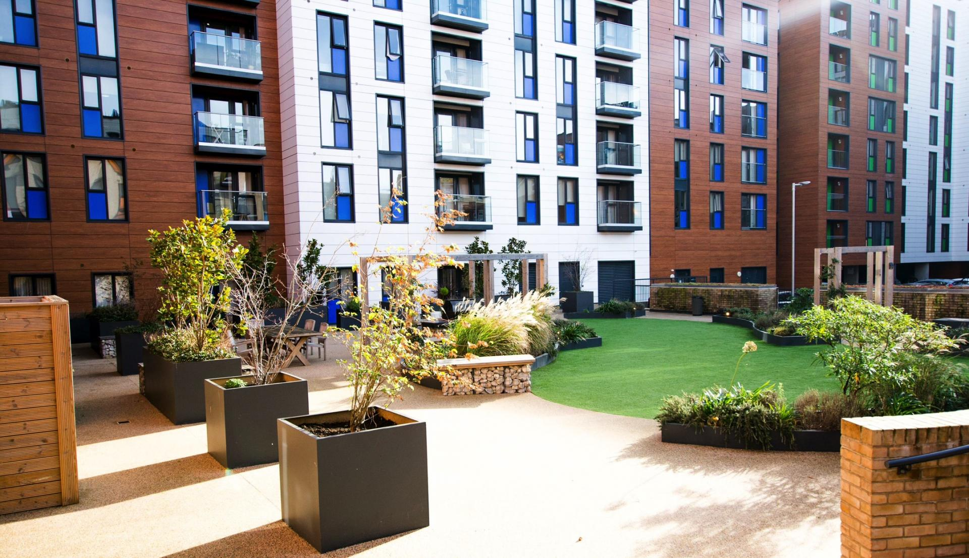 Outside area at Charles Hope Southampton City Apartments - Citybase Apartments