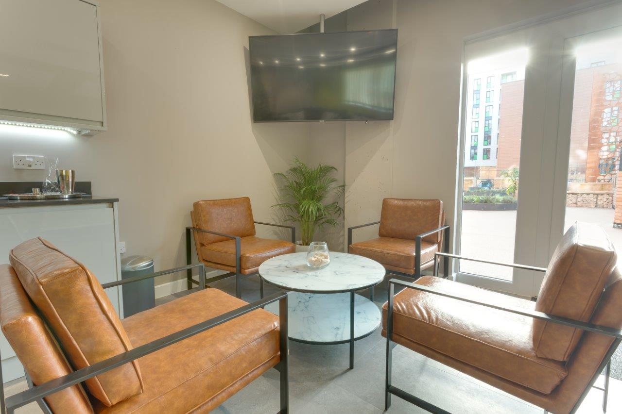Communal seating at Charles Hope Southampton City Apartments - Citybase Apartments