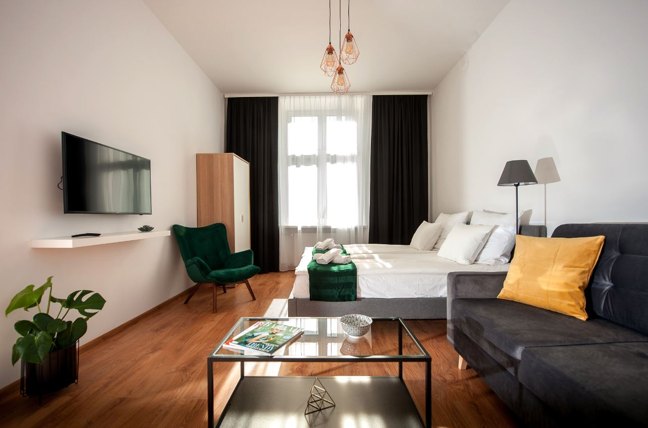 Stylish living area at Agnieszki 1 Apartment - Citybase Apartments