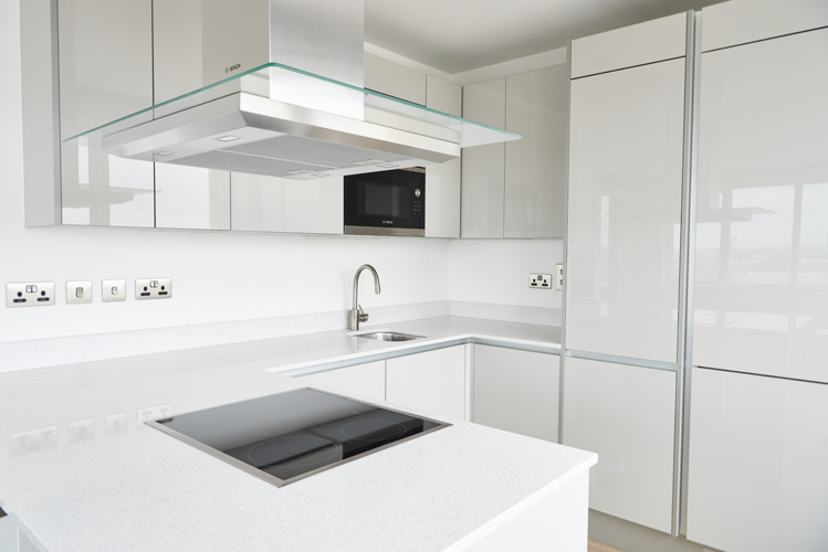 Modern kitchen at Canada Water Apartments - Citybase Apartments