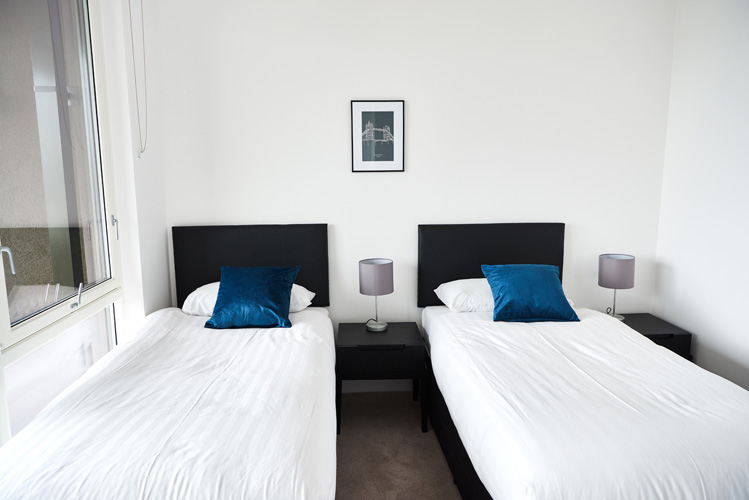 Cosy bedroom at Canada Water Apartments - Citybase Apartments