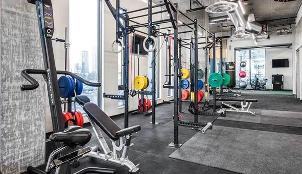 Fitness center at AMLI Arc Corporate Housing - Citybase Apartments