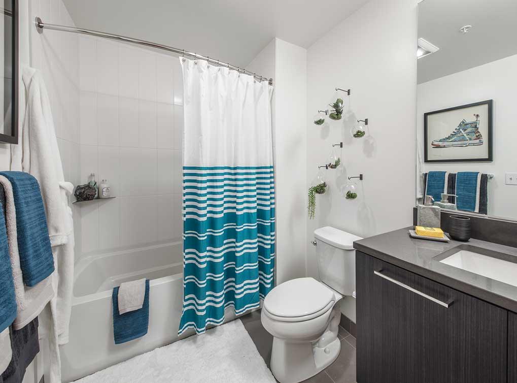 Bathroom at AMLI Arc Corporate Housing - Citybase Apartments