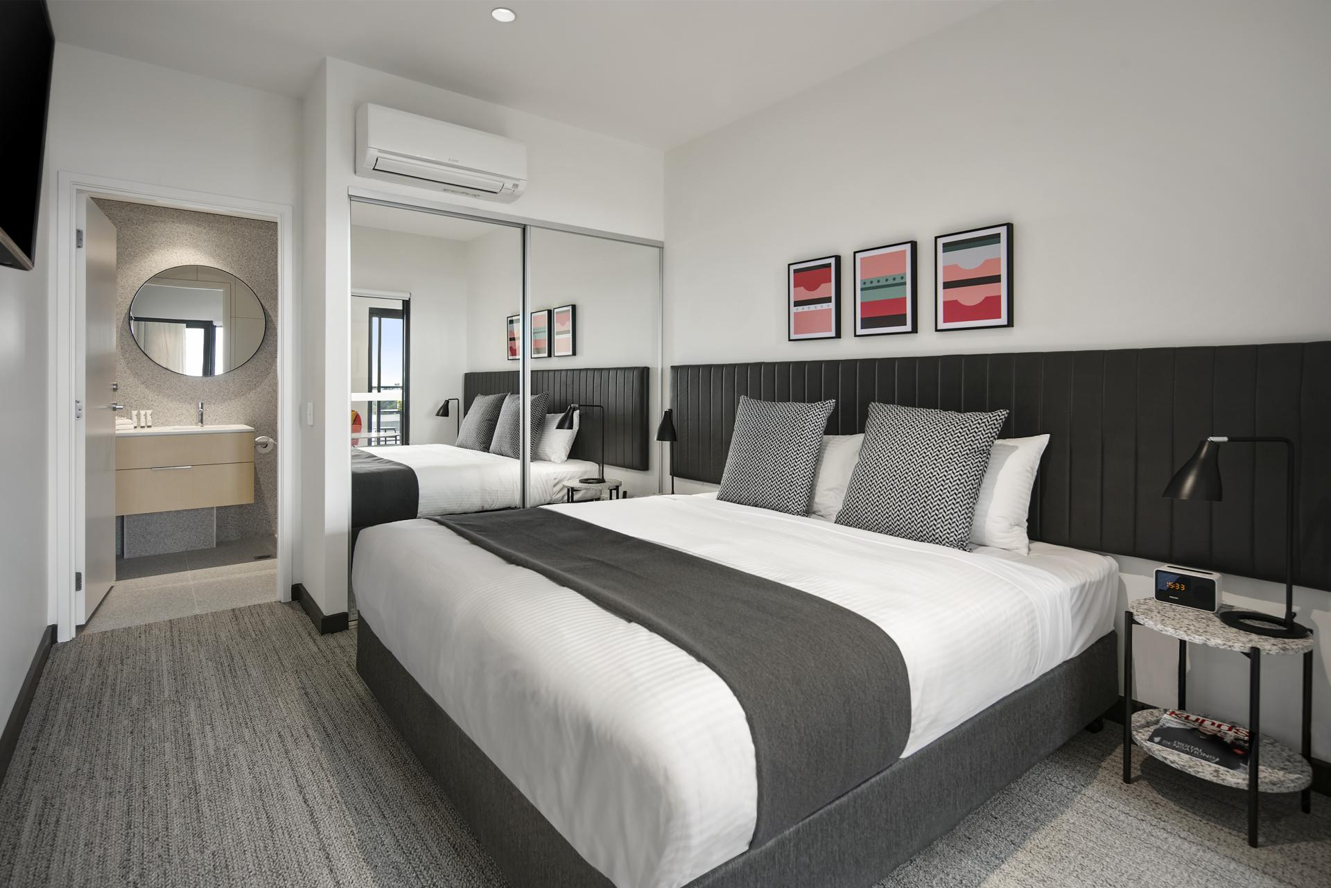 Bed at Quest Notting Hill Apartments - Citybase Apartments