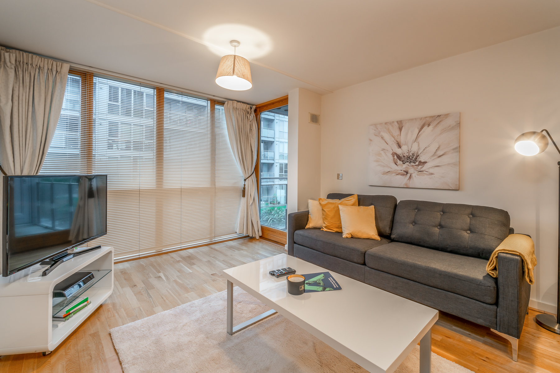 Living area at The Gasworks Adoor Apartments - Citybase Apartments