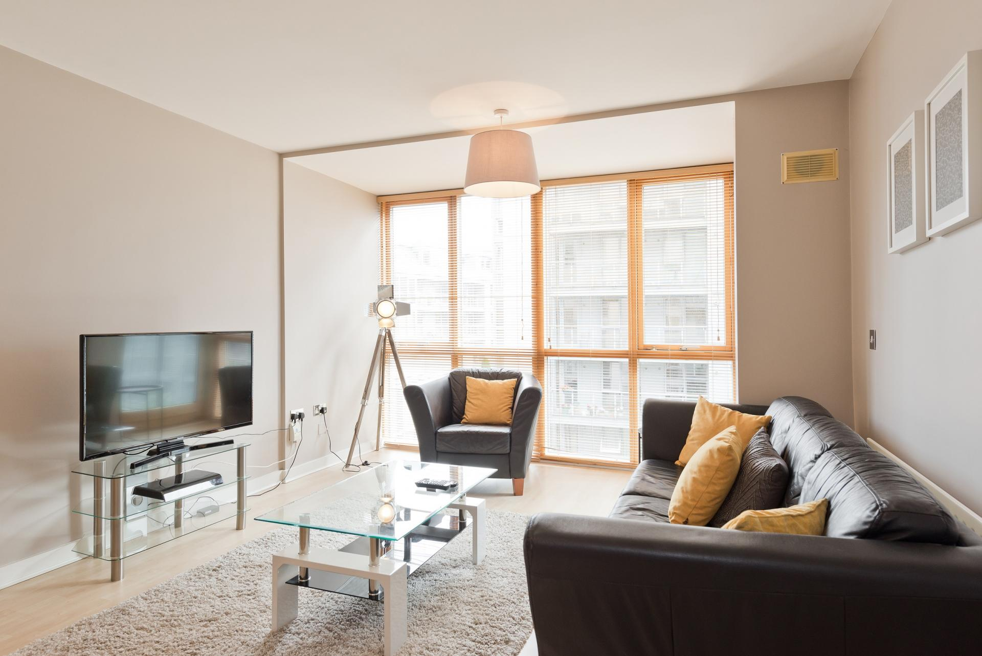 Lounge at The Gasworks Adoor Apartments - Citybase Apartments
