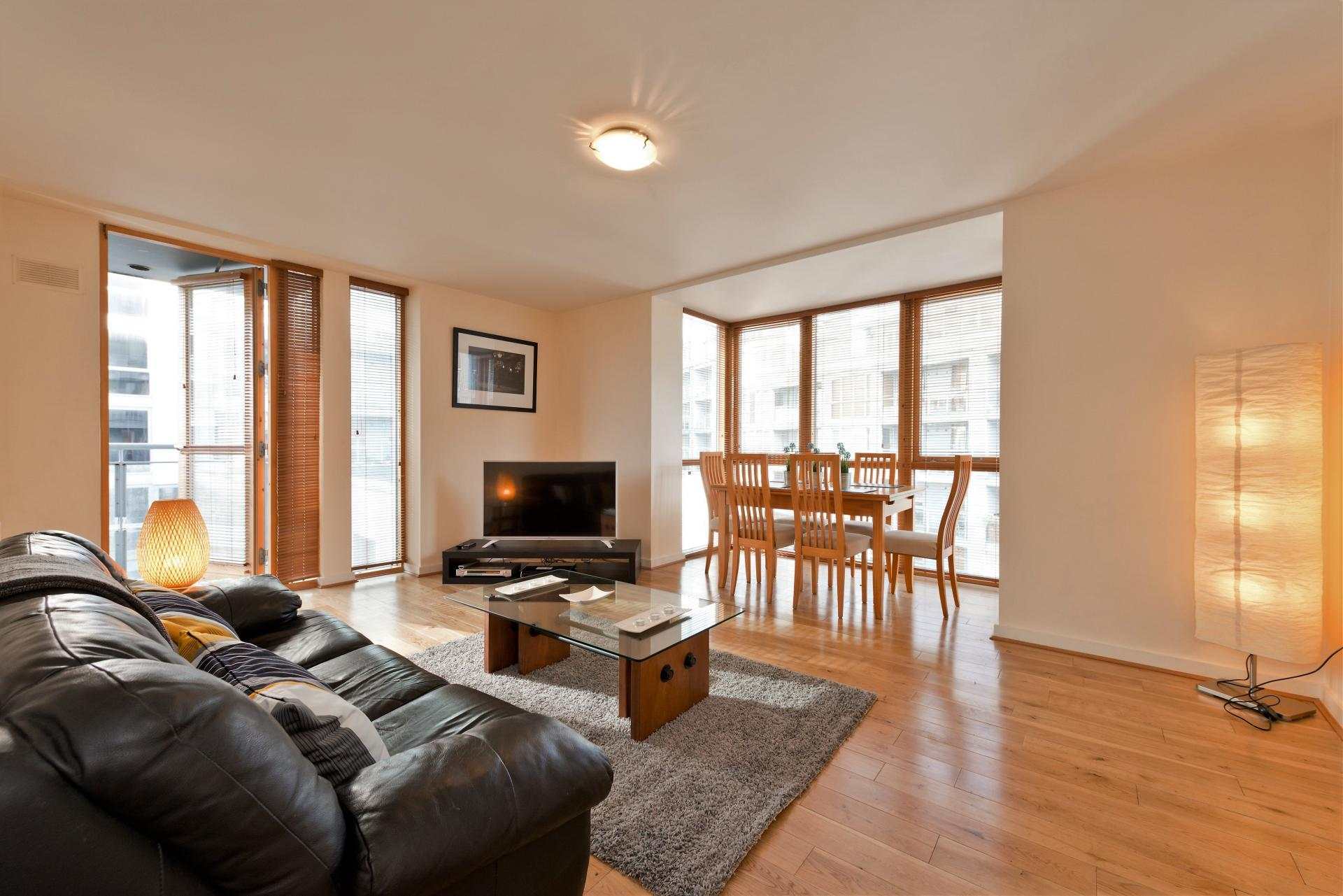Living room at The Gasworks Adoor Apartments - Citybase Apartments