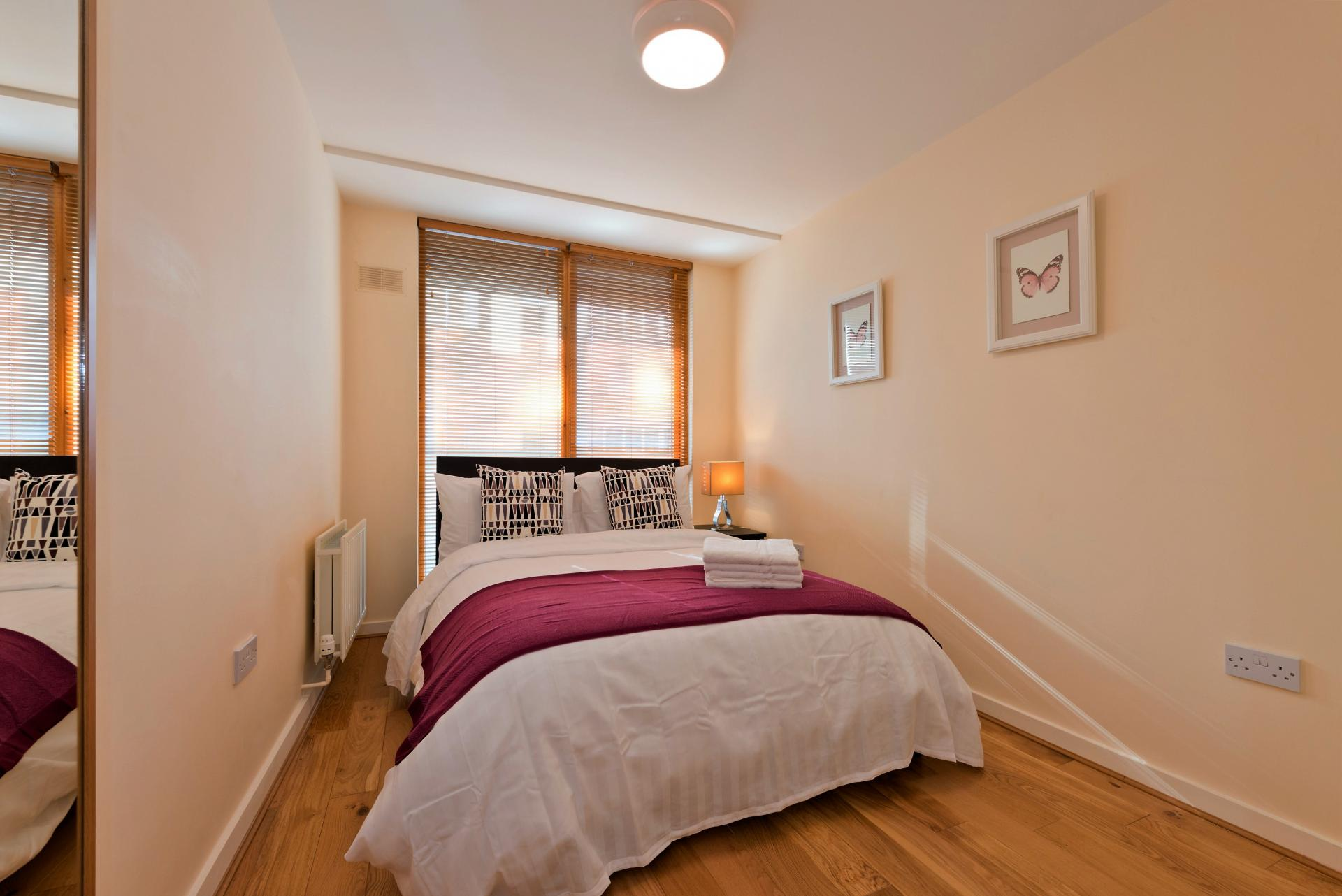 Double bed at The Gasworks Adoor Apartments - Citybase Apartments