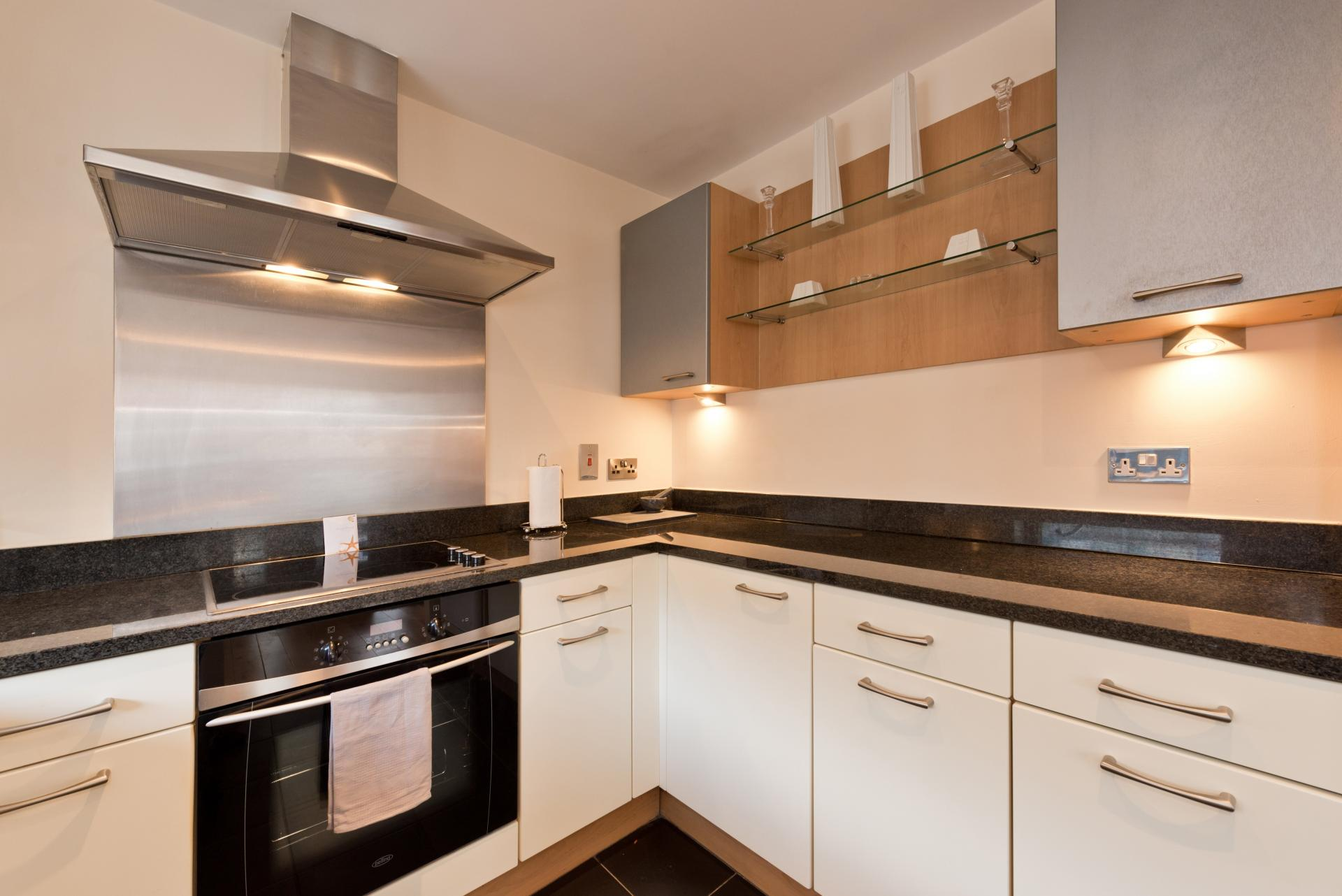 Kitchen at The Gasworks Adoor Apartments - Citybase Apartments