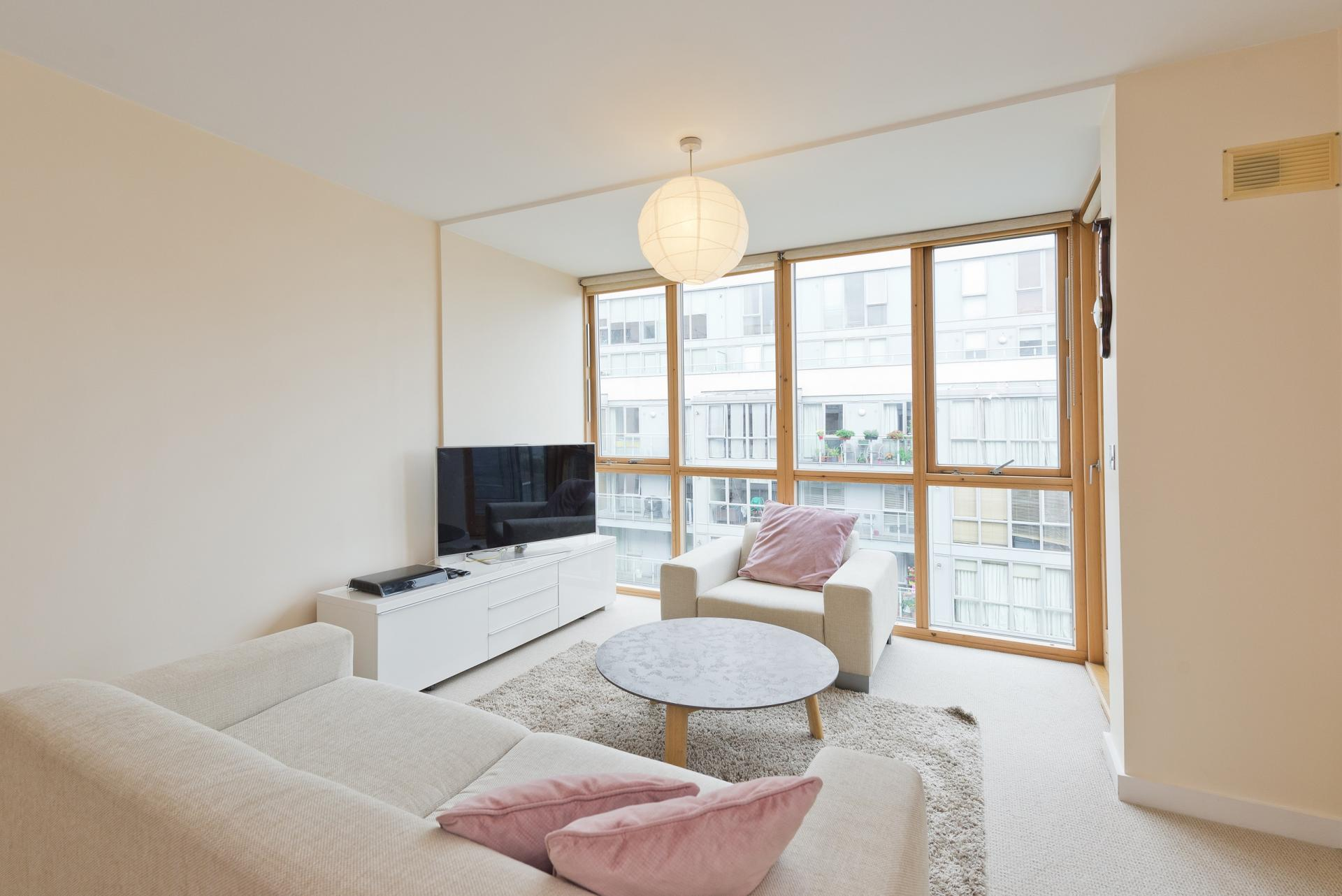 Bright living area at The Gasworks Adoor Apartments - Citybase Apartments