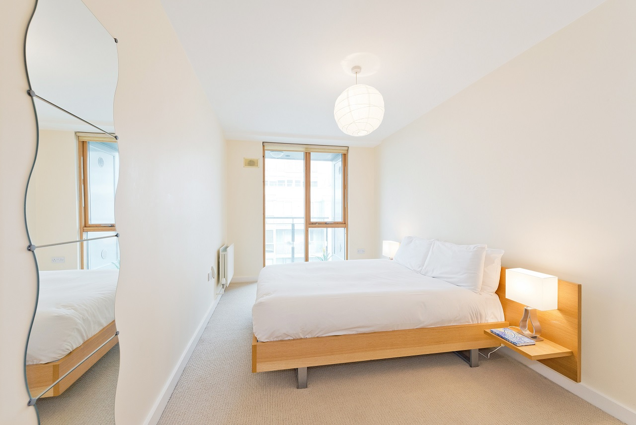 Bright bedroom at The Gasworks Adoor Apartments - Citybase Apartments