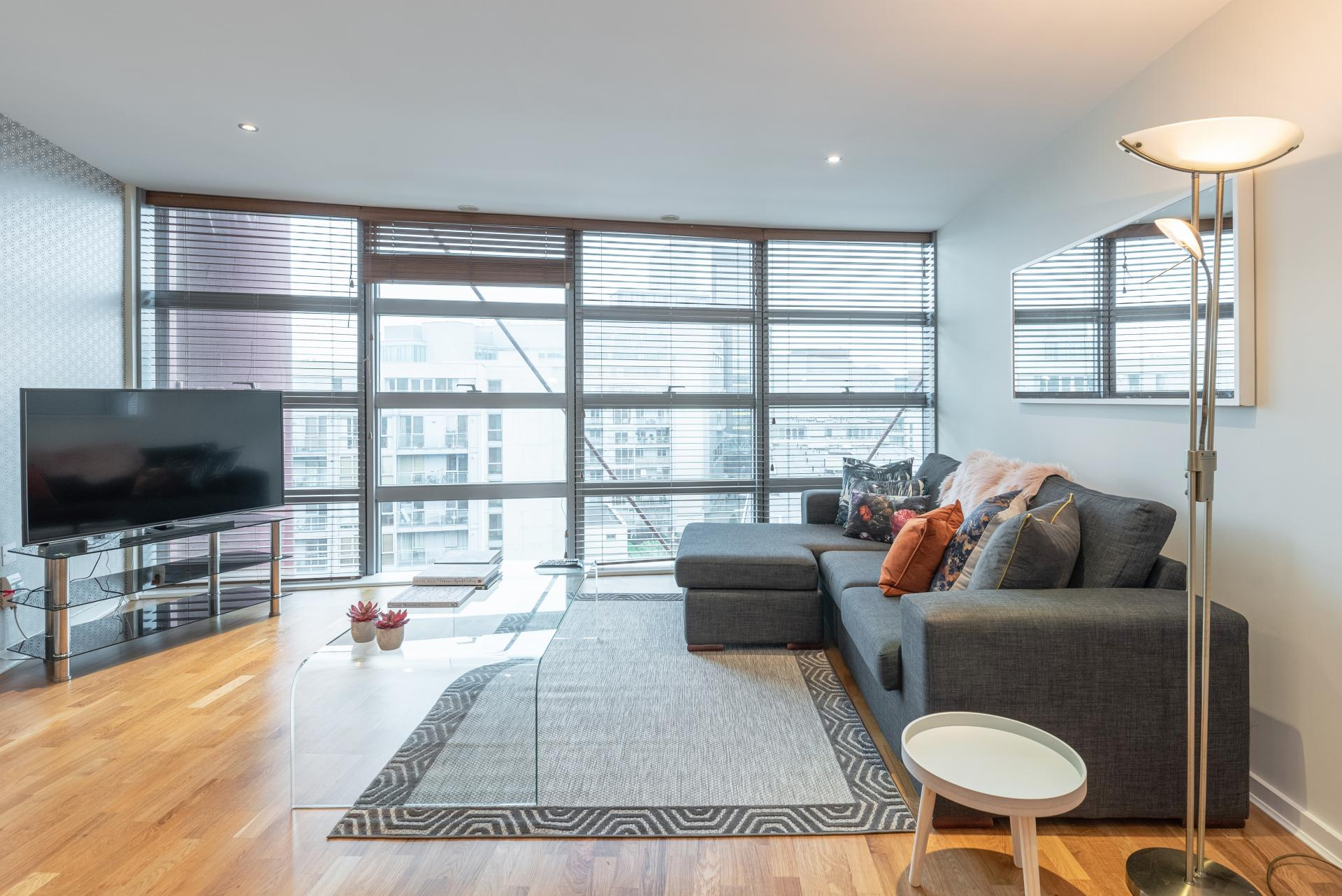 Living room at The Gasworks Adoor Apartments, Grand Canal Dock, Dublin - Citybase Apartments