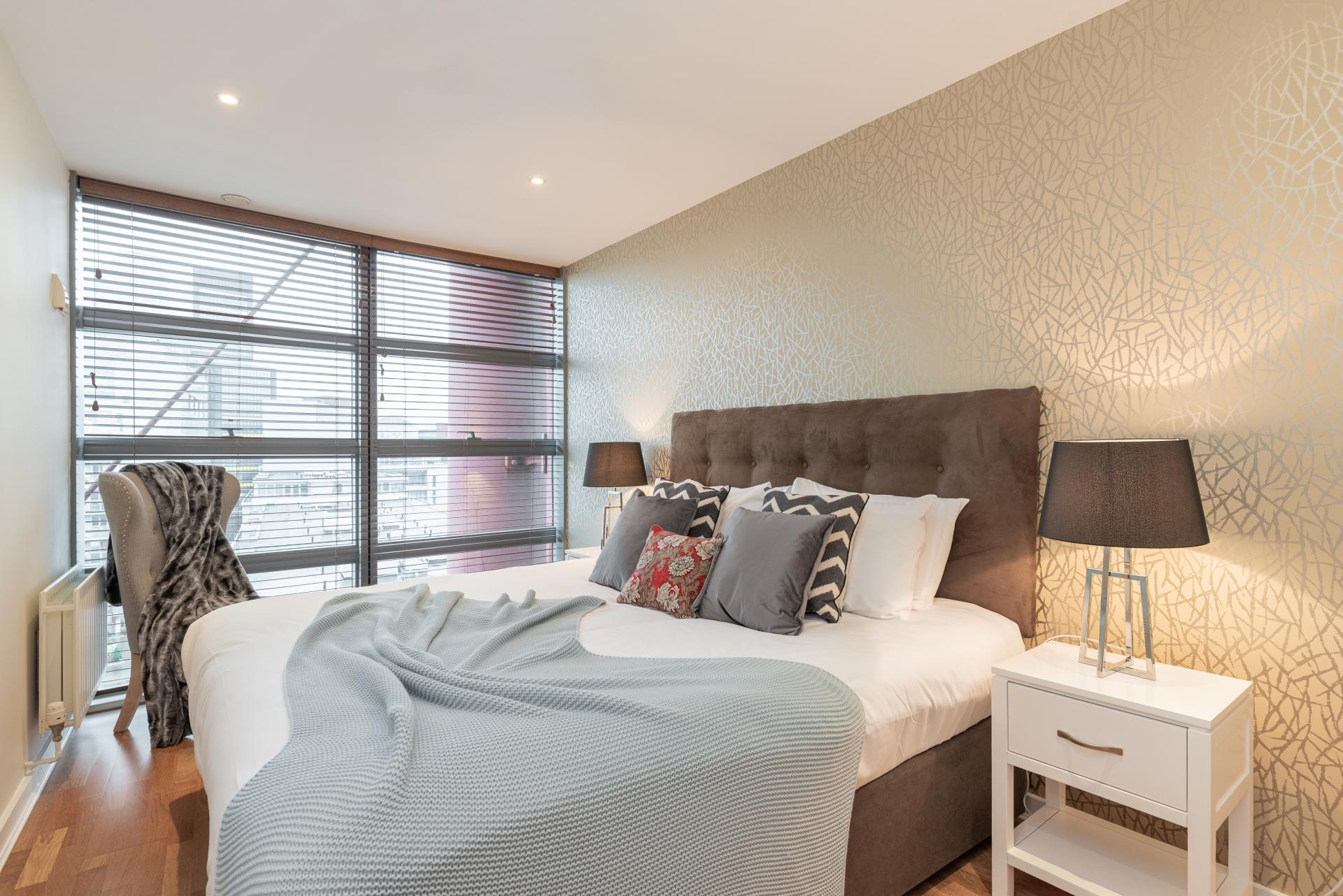Bedroom at The Gasworks Adoor Apartments, Grand Canal Dock, Dublin - Citybase Apartments