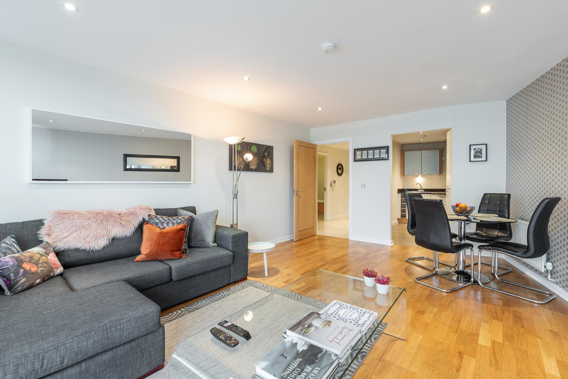 Dining area at The Gasworks Adoor Apartments, Grand Canal Dock, Dublin - Citybase Apartments
