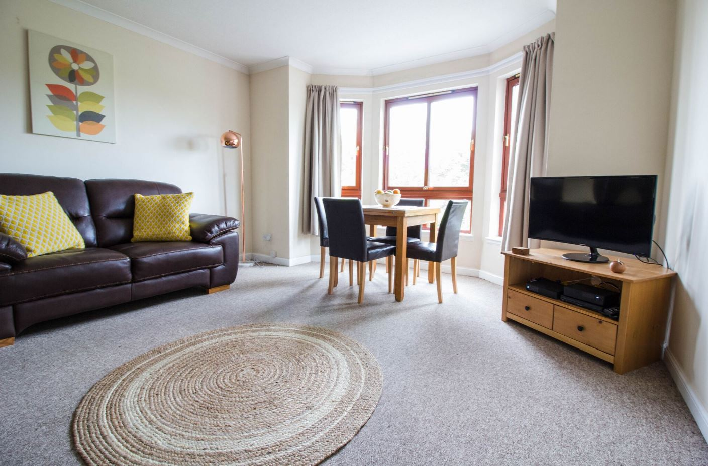 Living room at South Groathill Serviced Apartment - Citybase Apartments