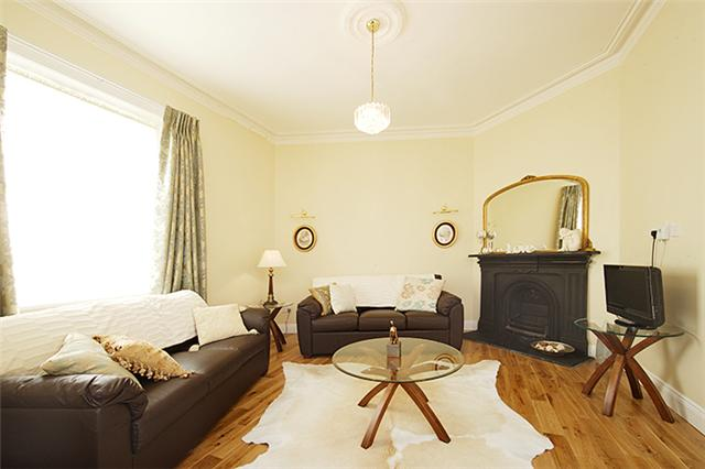 Cosy living area at Tyrconnell Road Apartments - Citybase Apartments