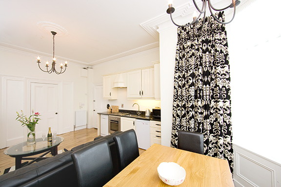 Dining table at Tyrconnell Road Apartments - Citybase Apartments