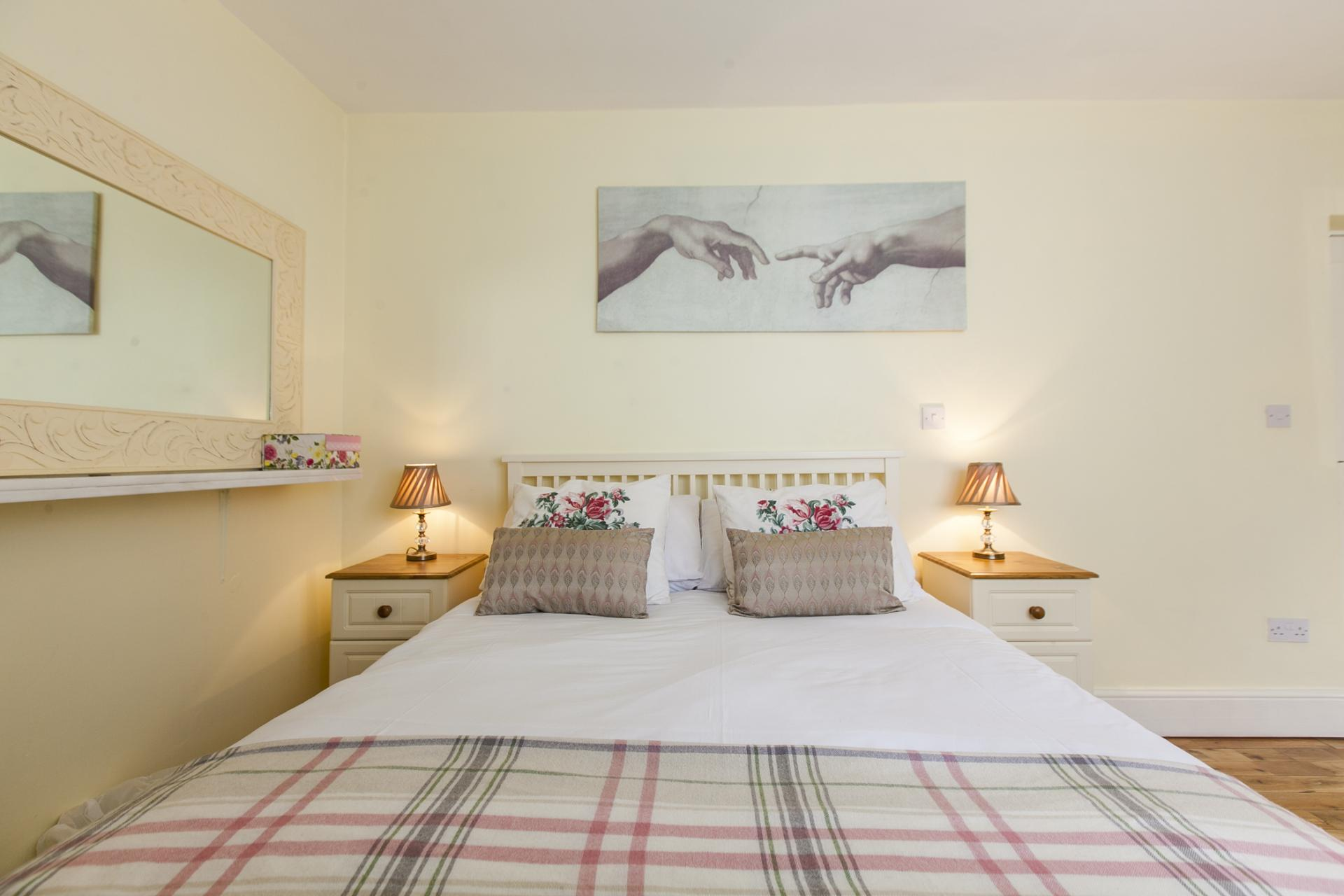Stylish bedroom at Tyrconnell Road Apartments - Citybase Apartments