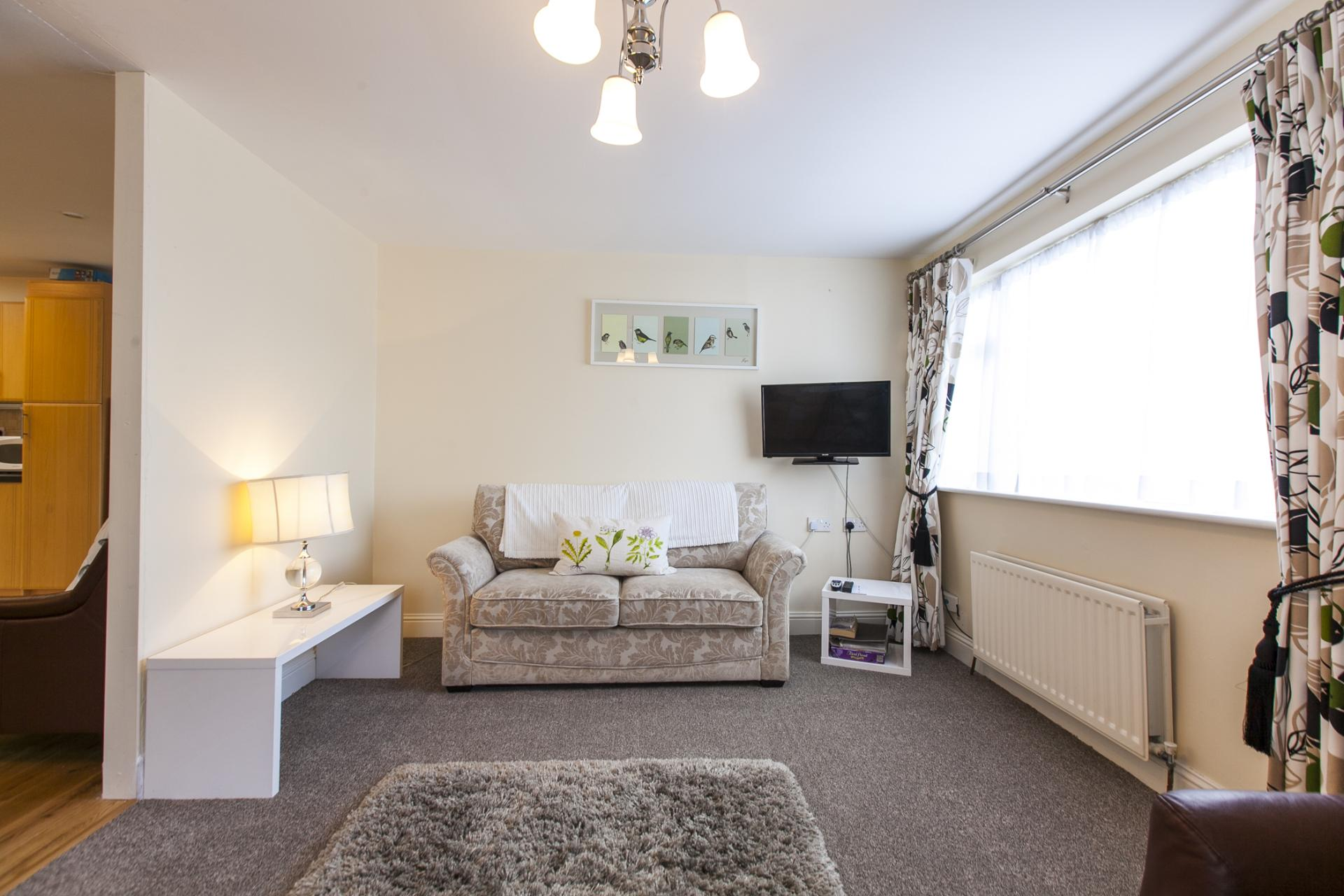 Bright living area at Tyrconnell Road Apartments - Citybase Apartments