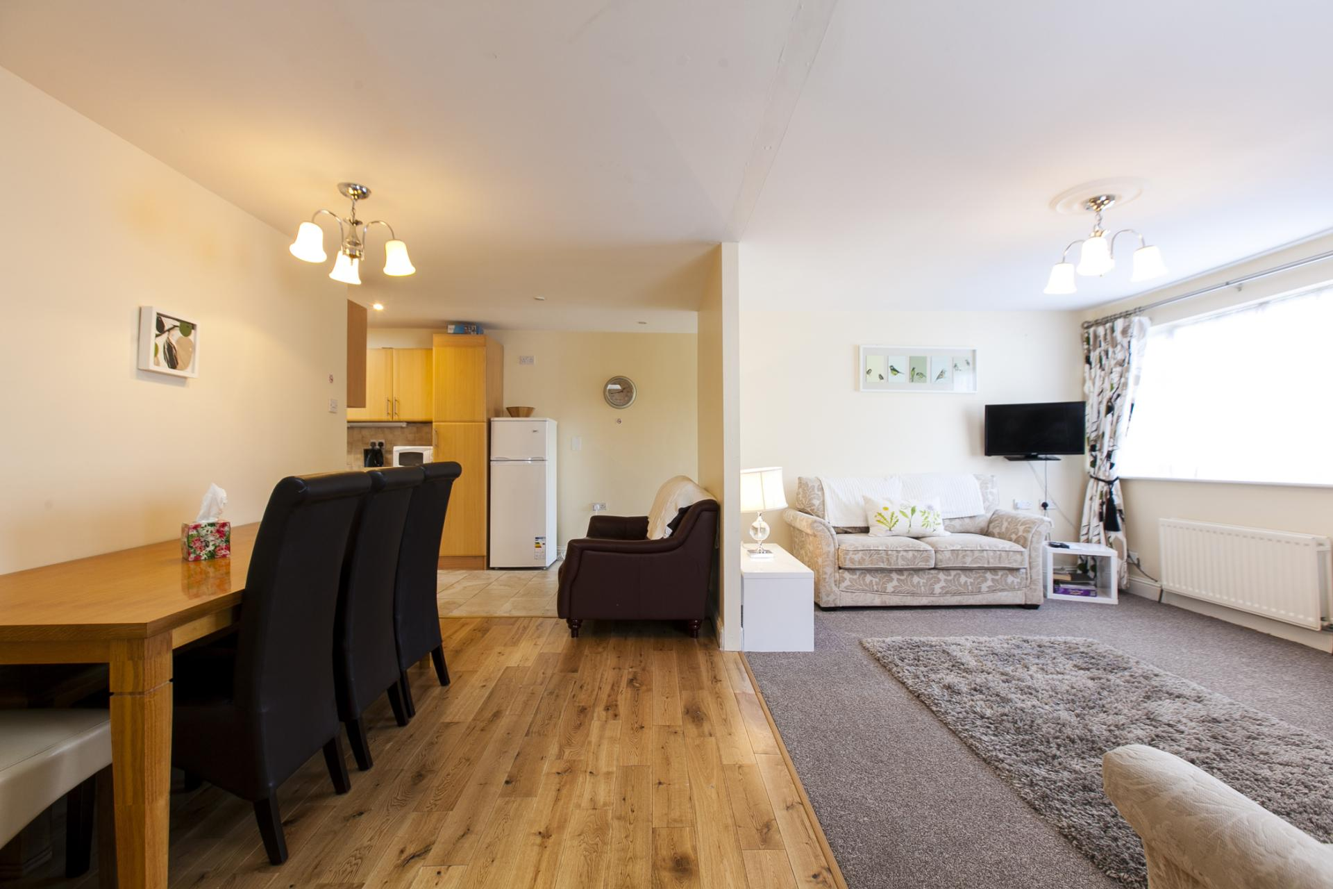 Open-plan living area at Tyrconnell Road Apartments - Citybase Apartments