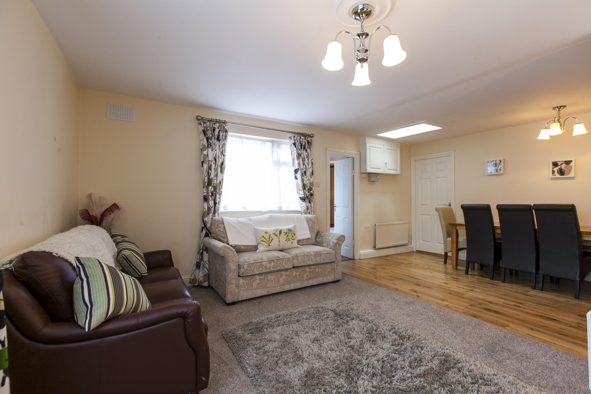 Comfortable living area at Tyrconnell Road Apartments - Citybase Apartments
